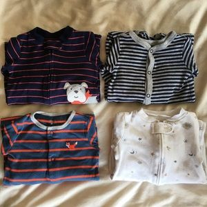 SET OF 7 Carter's 9 Months Baby Boy Sleepers